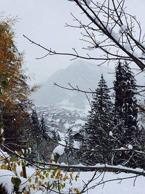 Sneeuw in de vallei van Abondance